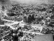 Chemnitz 1945, después dl bombardeo, no quedó piedra sobre piedra, la población no superó los 100000 habitantes hasta 1983