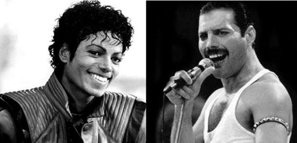 dueto Michael  Jakson Freddie Mercury