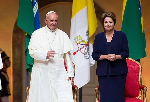 Papa Francisco, Dilma Rousseff