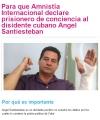 Para que Amnistía Internacional declare prisionero de conciencia a ÁngelSantiesteban