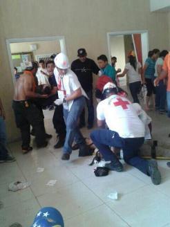 Heridos represión