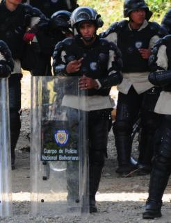 Policia de la dictadura de Maduro